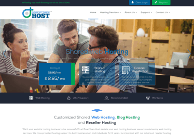 How To Purchase A Shared Hosting Account On Downtown Host